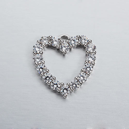 925 sterling silver cz heart charms