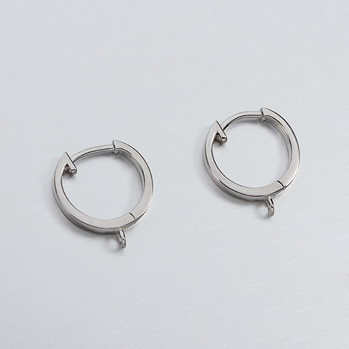 925 sterling silver hoop earring findings