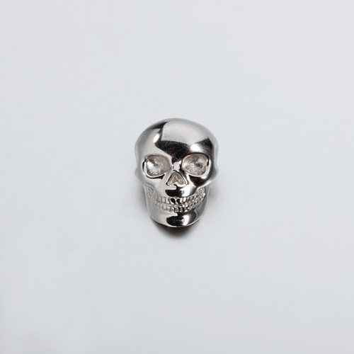 925 sterling silver skull adjustasble slider bead clasp