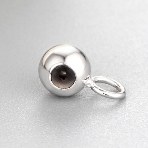 925 sterling silver 5mm silicone ball bead with jump ring