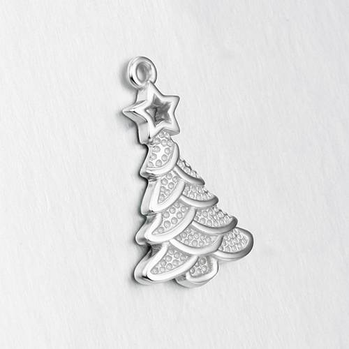 925 sterling silver Christmas tree charm