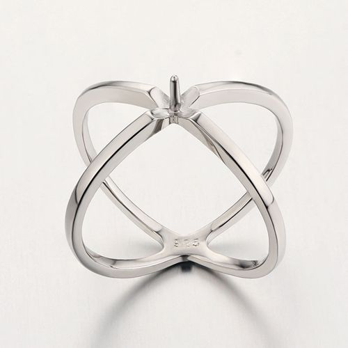 925 sterling silver cross pearl ring mountings