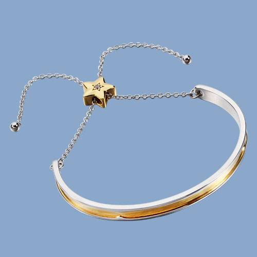 925 sterling silver ajustable bangle bracelet