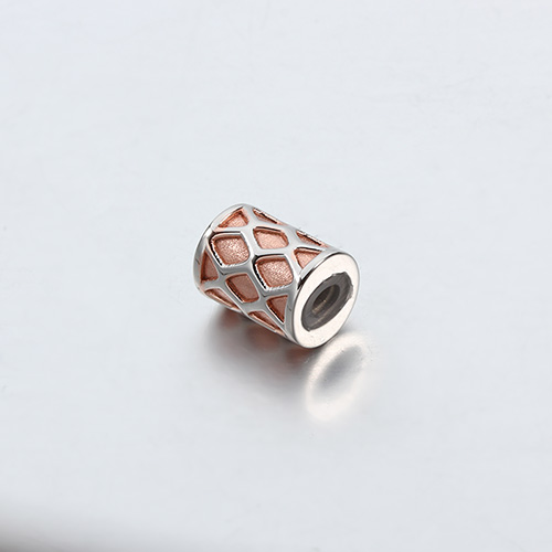 925 sterling silver slider tube beads