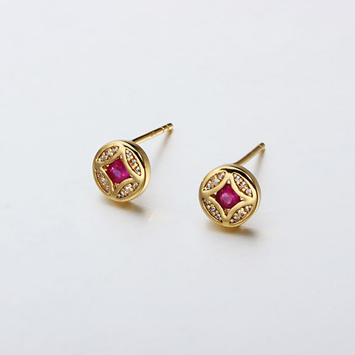 925 sterling silver gemstone stud earrings