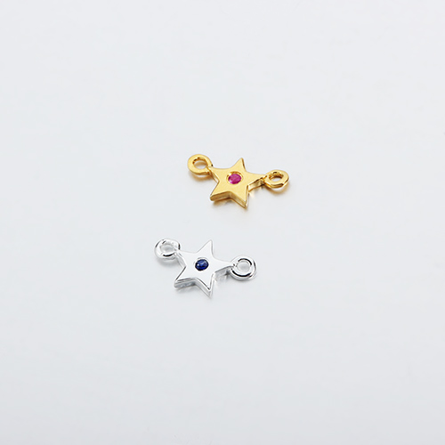 925 sterling silver gemstone star connector
