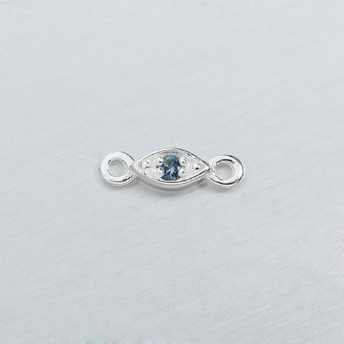 925 sterling silver gemstone oval connectors