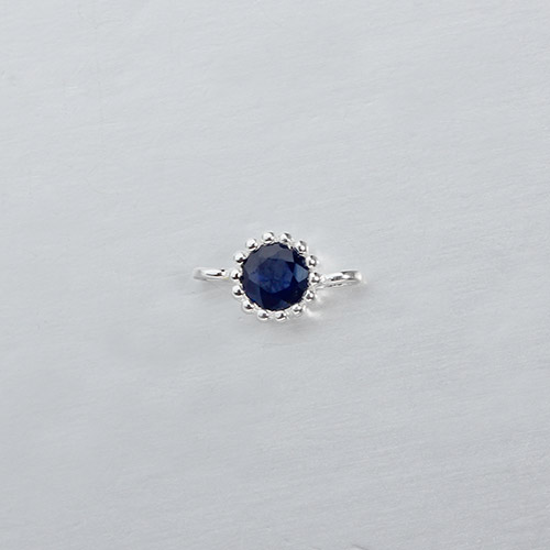 925 sterling silver gemstone round connector --4mm