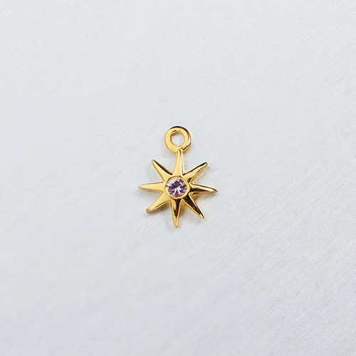 925 sterling silver bigger gemstone north star charms