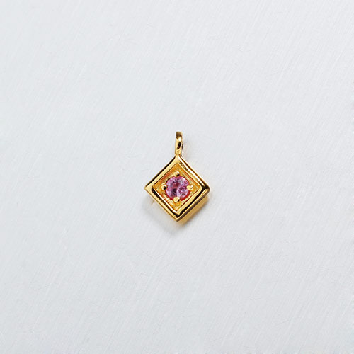 925 sterling silver diamond shape gemstone charms