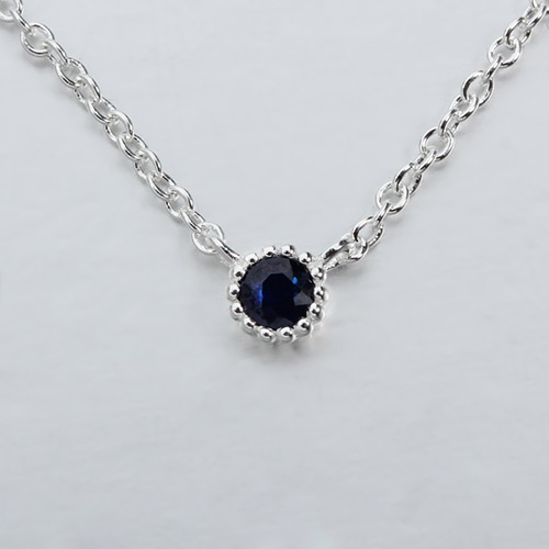 925 sterling silver single gemstone necklaces