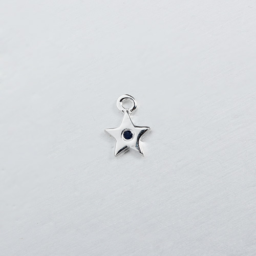 925 sterling silver gemstone star charm -5mm