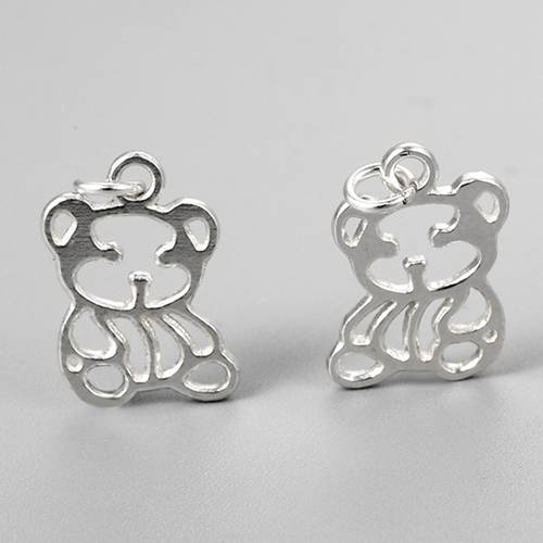 925 sterling silver bear charms