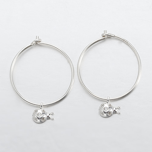 925 sterling silver cz animal minimalist ear hoops