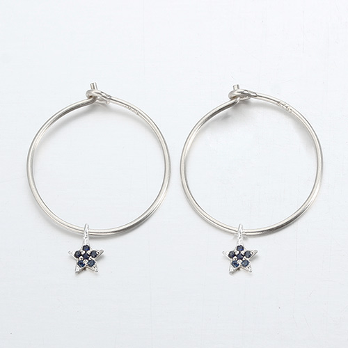 925 sterling silver minimalist star ear hoops