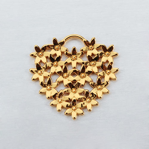 925 sterling silver flower heart charms