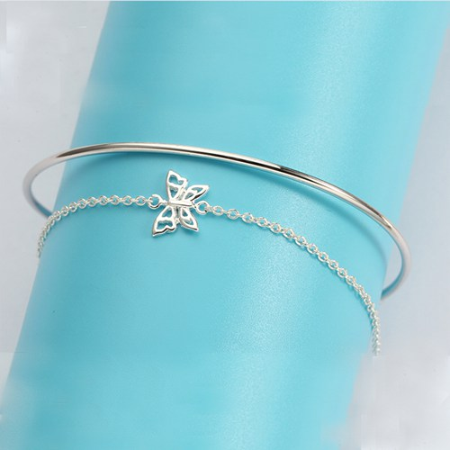 925 sterling silver butterfly bangle for girls