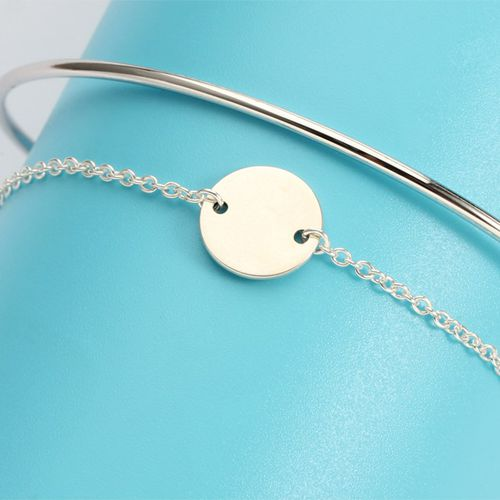 925 sterling silver blank coin bangle