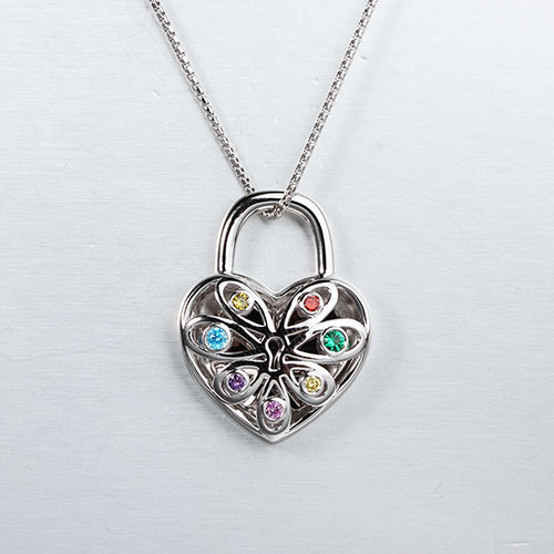 925 sterling silver chakra cz heart locket