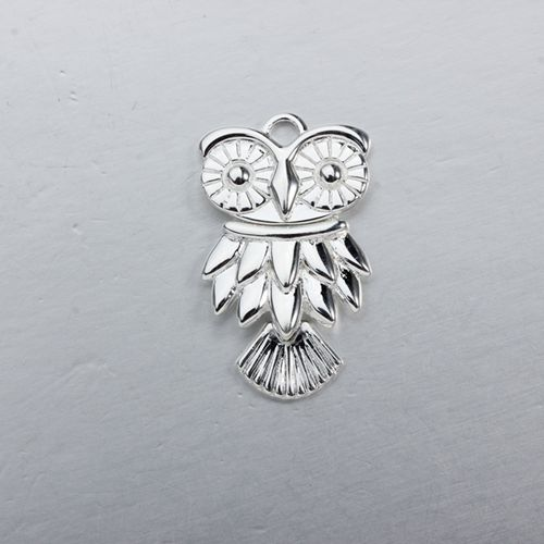 925 sterling silver flexible owl charm