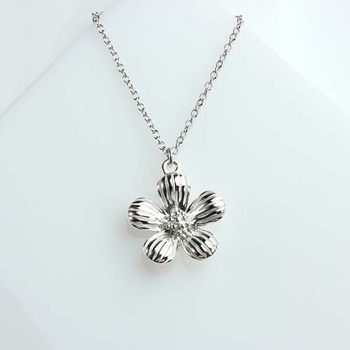 925 sterling silver flower charm -10mm