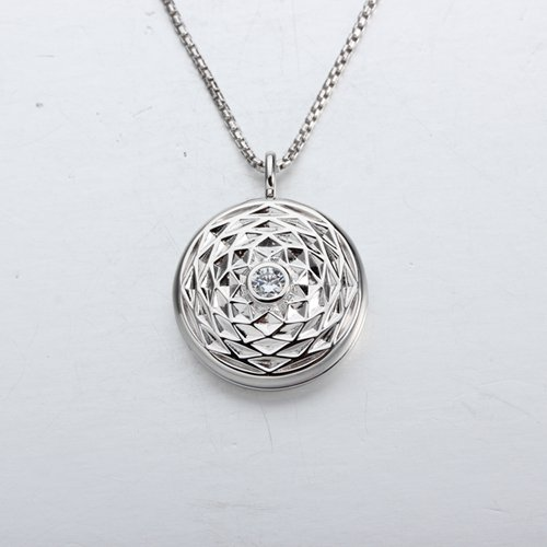 925 sterling silver cz locket pendant