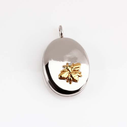 925 sterling silver bee locket