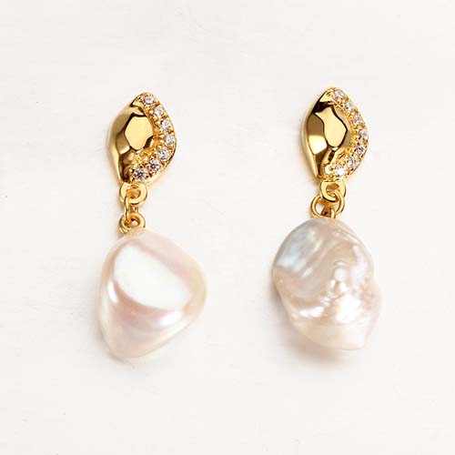 Wholesale 925 sterling silver pearl cz stud earrings