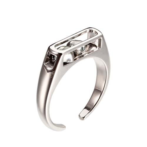 925 sterling silver baroque pearl cage open ring