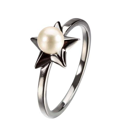 Wholesale 925 sterling silver pearl star ring