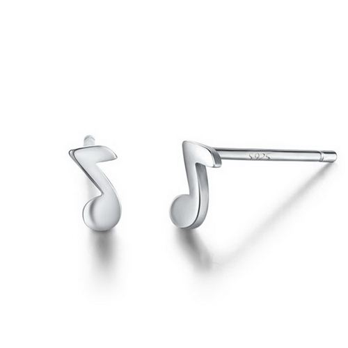 925 sterling silver misic stud earrings wholesale