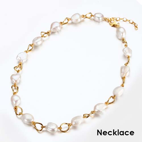 Siviglia 925 silver baroque pearl necklace