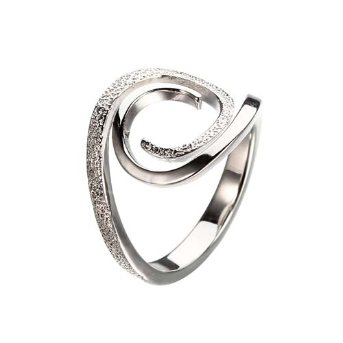 Fashion 925 sterling silver wave design ring