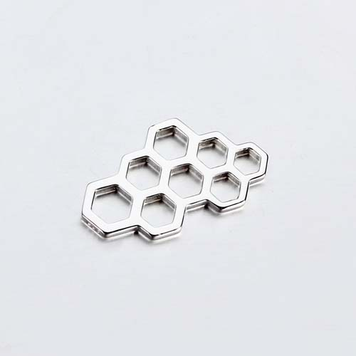 925 sterling silver honeycomb charm