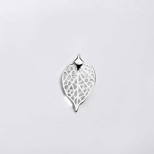 925 sterling silver filigree leaf charm jewelry -20mm