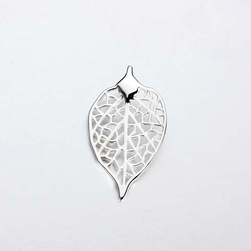 925 sterling silver filigree leaf charm -30mm