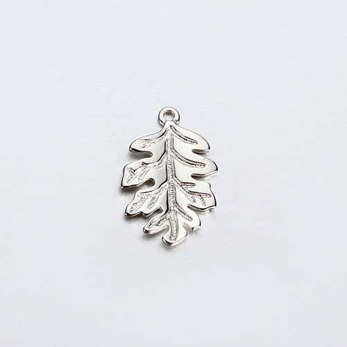 925 sterling silver oak leaf charm jewelry -15mm