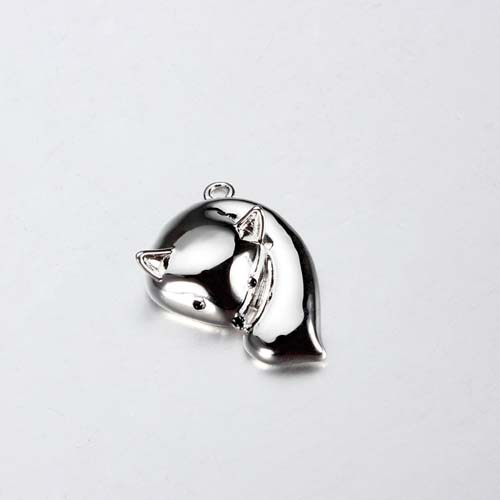 925 sterling silver 3d fox animal charm jewelry
