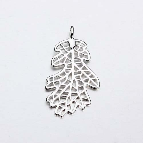 925 sterling silver leaf charm,two sizes