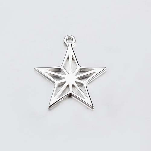 925 sterling silver star charm -20mm