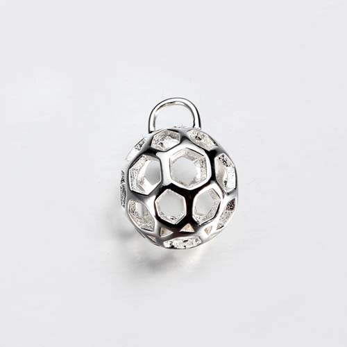 925 silver honeycomb pattern ball charm,two sizes