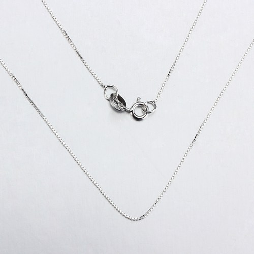 Sterling silver box chain necklace in stock