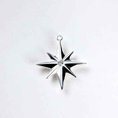 Wholesale 925 sterling silver north star charms
