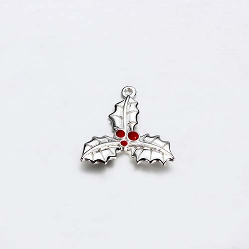 Christmas leaf 925 sterling silver charms