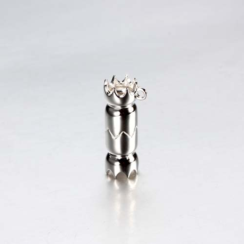 925 sterling silver 3d rocket charms