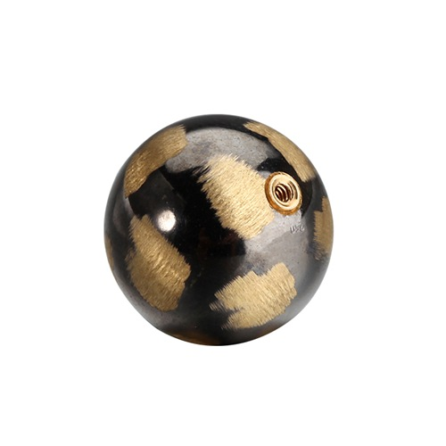 18k gold screw hole ball bead 10mm