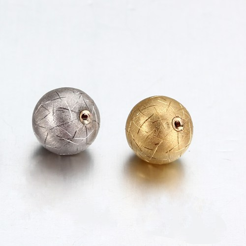 18k gold screw hole ball bead 8mm