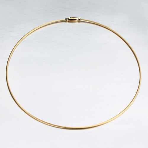 18k gold wire necklace jewelry -1.5mm