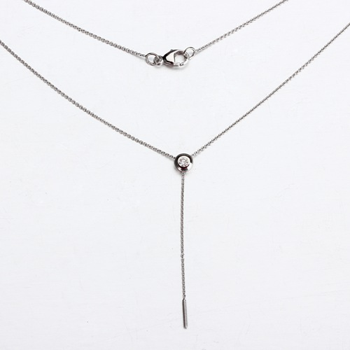 18k gold diamond slider screw necklace findings