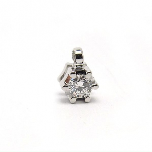 18k gold diamond solitaire pendant -4.5mm